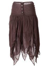 юбка с бахромой  Romeo Gigli Vintage