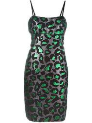 приталенное платье с леопардовым принтом Marc By Marc Jacobs