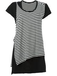 асимметричная футболка в полоску Y's