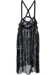прозрачная юбка с подтяжками Y's