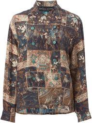 рубашка с узором барокко  Jean Louis Scherrer Vintage