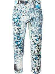 укороченные джинсы с цветочным принтом Mm6 Maison Margiela