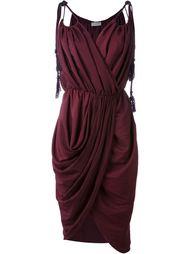 драпированное платье без рукавов  Lanvin