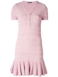 плиссированное платье  Alexander McQueen