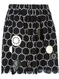 юбка с вышитым узором из кругов Marc By Marc Jacobs