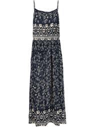 платье на бретелях с цветочным принтом Sea