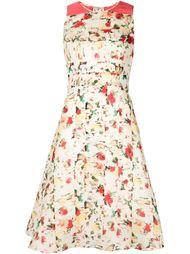 расклешенное платье с абстрактным принтом Carolina Herrera