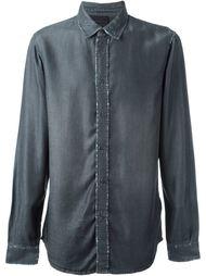джинсовая рубашка с потертой отделкой Diesel Black Gold