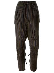 зауженные полосатые брюки Chloé