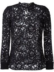 кружевная блузка с цветочным узором Saint Laurent