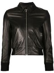 укороченная кожаная куртка R13