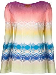 тканая блузка с полосатым принтом Missoni