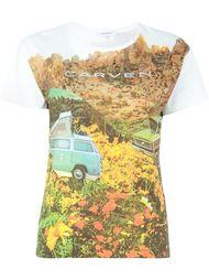футболка с пейзажным принтом Carven