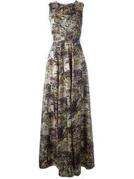 длинное платье без рукавов  Nº21