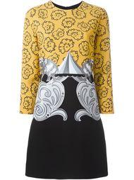 платье А-образного кроя с комбинированным принтом  Victoria Victoria Beckham