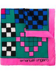 нагрудный платок с узором в клетку Emanuel Ungaro Vintage
