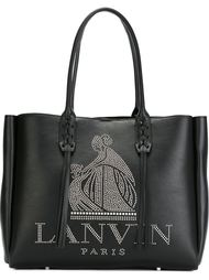 сумка-тоут с логотипом из заклепок Lanvin