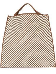 сумка-шоппер в полоску Jil Sander
