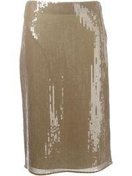 юбка-карандаш с пайетками Nina Ricci