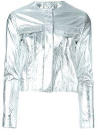 укороченная куртка с эффектом металлик Marques'almeida