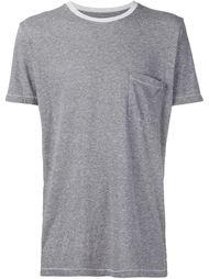 футболка с контрастным воротником   321