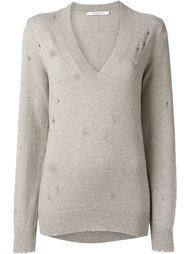 свитер с потертой отделкой  Givenchy