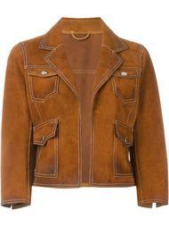 укороченная замшевая куртка Dsquared2