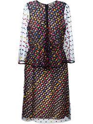 многослойное платье с накидкой Marco De Vincenzo
