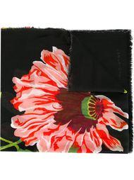 шарф с принтом маков Stella McCartney