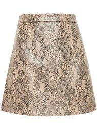 мини юбка с кружевным слоем Christopher Kane
