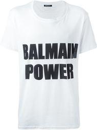 футболка с принтом Balmain Power Balmain