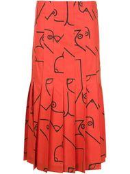 плиссированная юбка с принтом  Calvin Klein Collection
