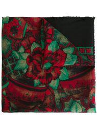 шарф с цветочным принтом Christian Dior Vintage