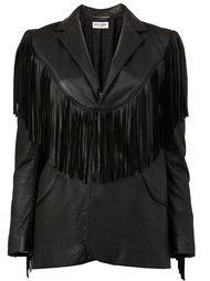 пиджак в ковбойском стиле с бахромой Saint Laurent