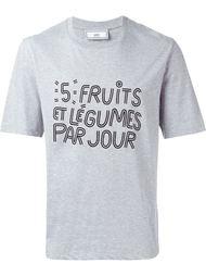 футболка с принтом слогана Ami Alexandre Mattiussi