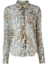 рубашка с леопардовым принтом   Chloé