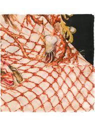 шарф с принтом кораллов Balmain