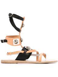 сандалии с серебристыми деталями Ancient Greek Sandals