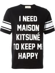 футболка с принтом слогана  Maison Kitsuné