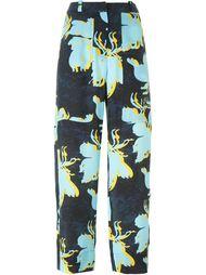 брюки с цветочным принтом   Cédric Charlier