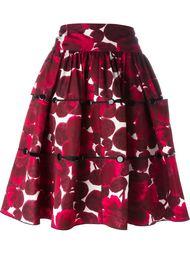 юбка с цветочным принтом   Marc Jacobs