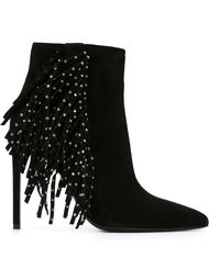 ботинки с бахромой  Saint Laurent