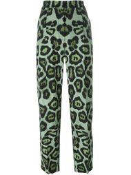 брюки с леопардовым принтом Givenchy
