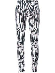 брюки с зебровым принтом Giamba