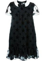 платье с контрастным воротником Saint Laurent
