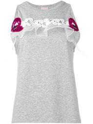 декорированная  футболка  Giamba