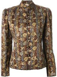 стеганая куртка с цветочным принтом  Emanuel Ungaro Vintage