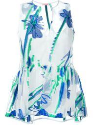 блузка с баской и цветочной вышивкой P.A.R.O.S.H.