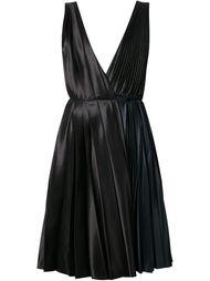плиссированное платье с глубоким вырезом  Cédric Charlier