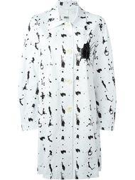 пальто с принтом брызг краски Mm6 Maison Margiela